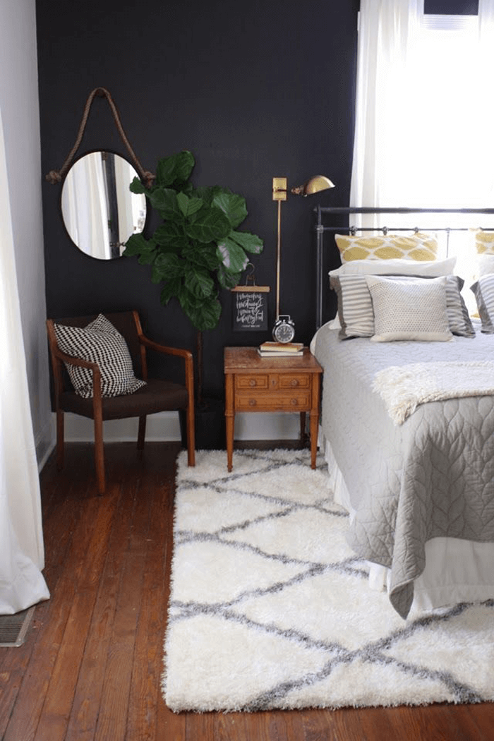 how to style dark walls in your bedroom