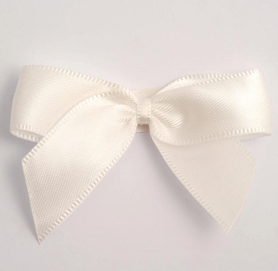 white bows for DIY wedding invitations