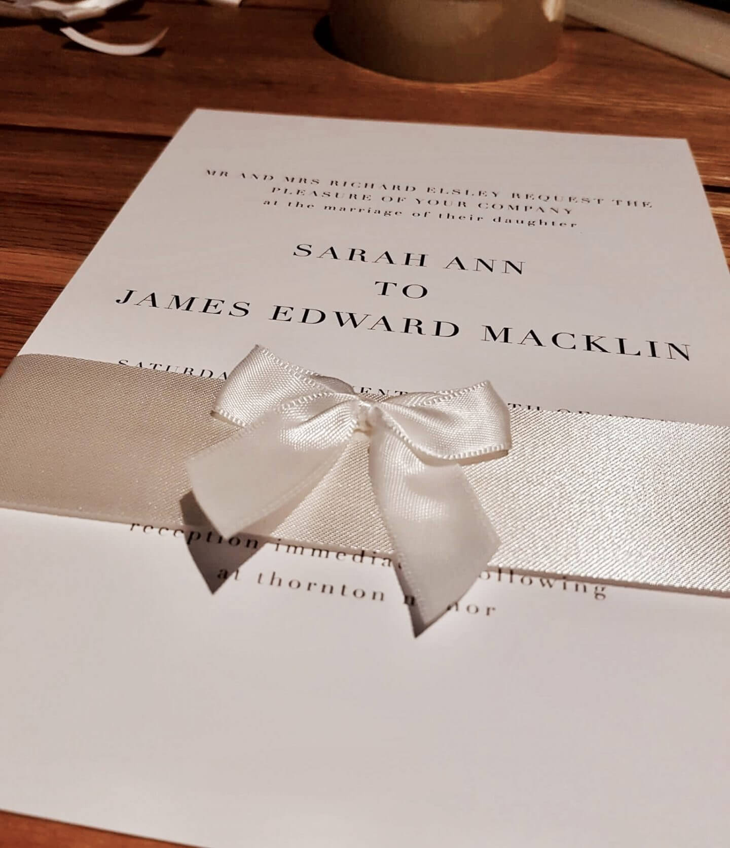 save money on your wedding by making your own invitations