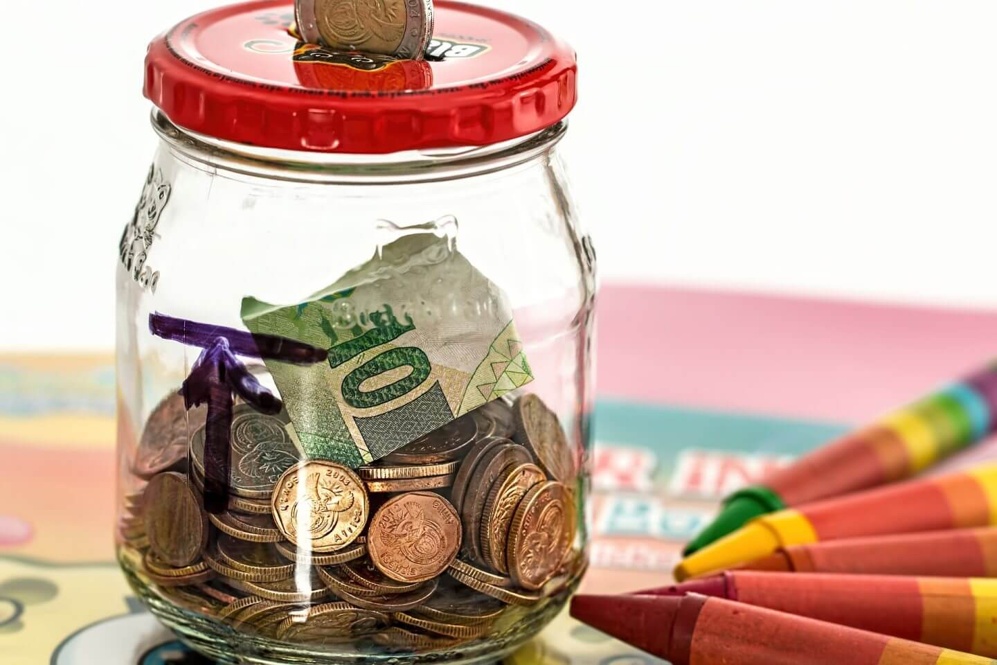 jar of money for wedding fund