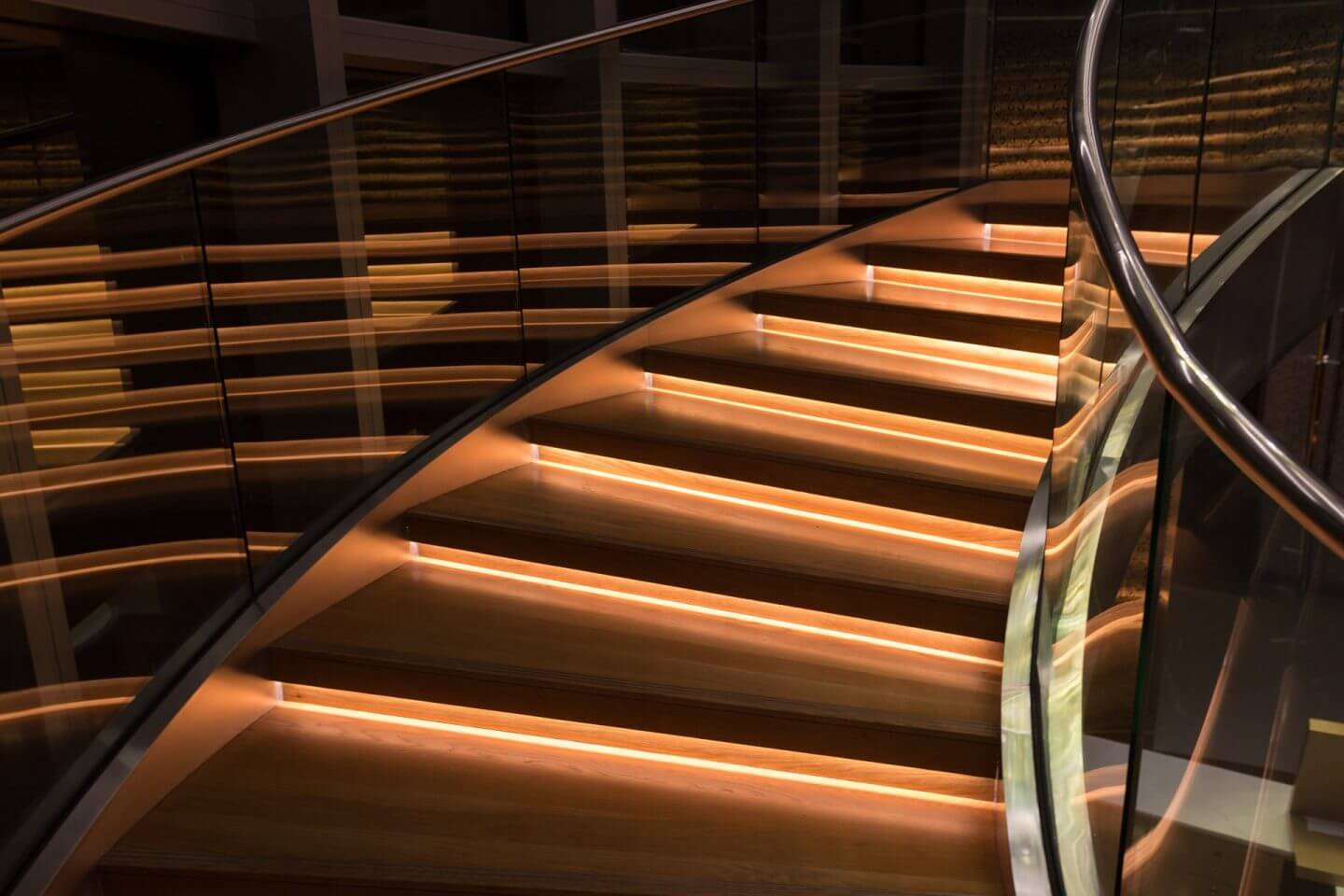 make your stairs a feature with a glass banister