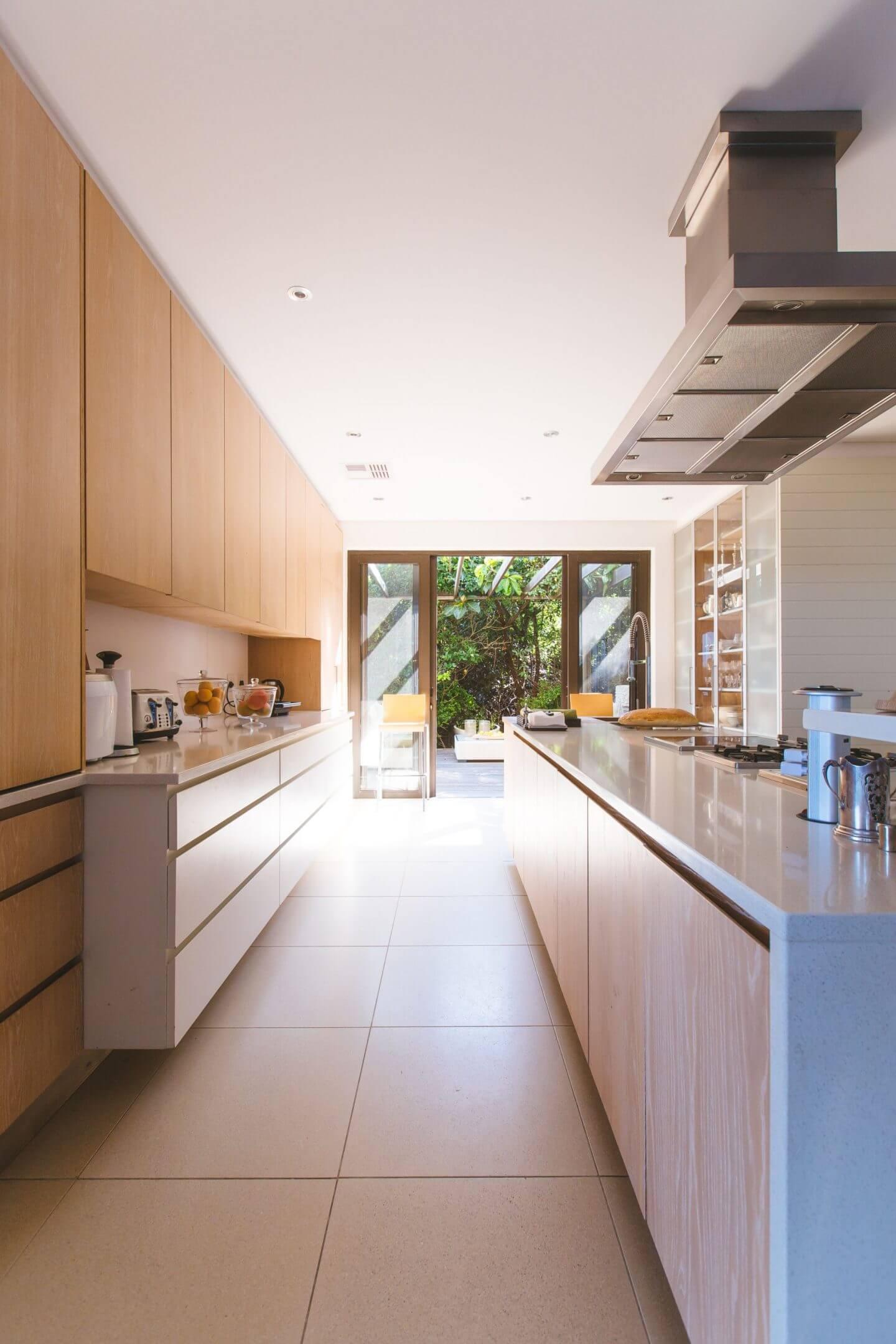 long narrow kitchen extension