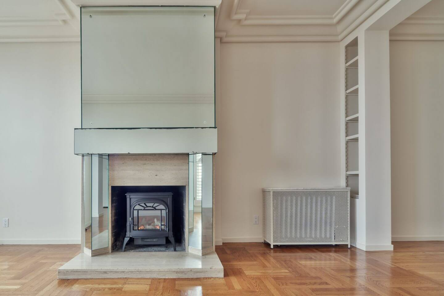 Home radiator and fireplace