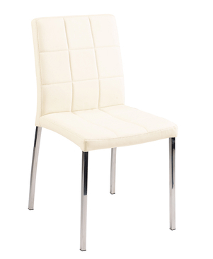 white leather chair with chrome legs