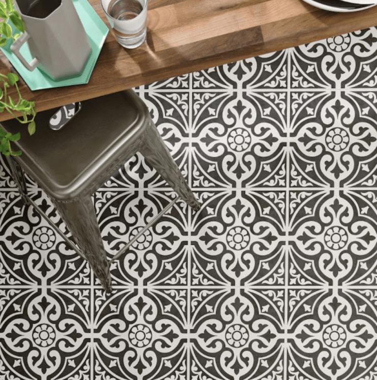 Bold Victorian floor tiles