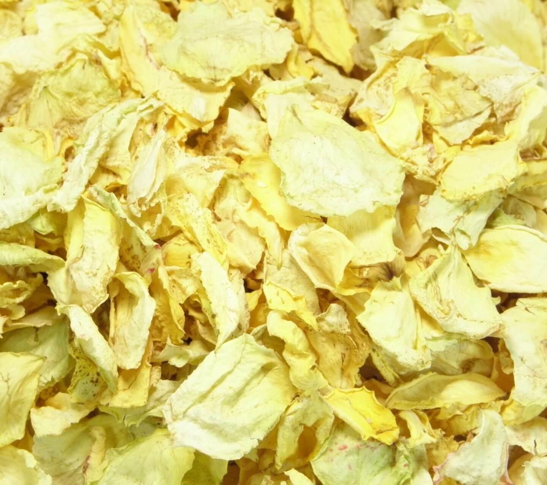 Yellow wedding biodegradable confetti