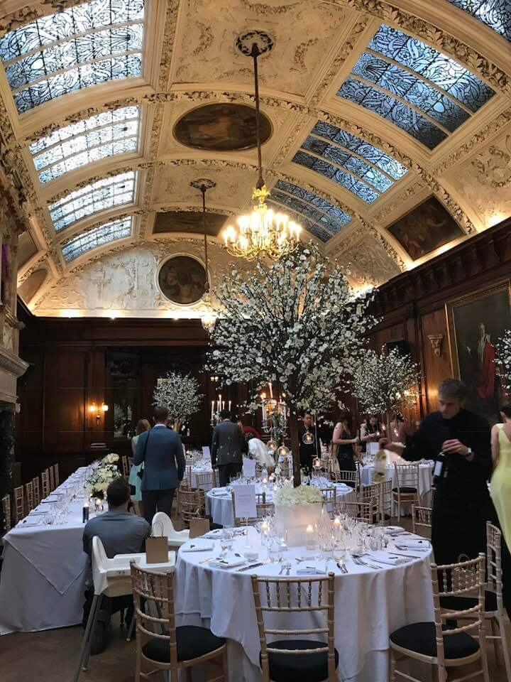 Thornton Manor music room with handpainted ceilings and blossom trees