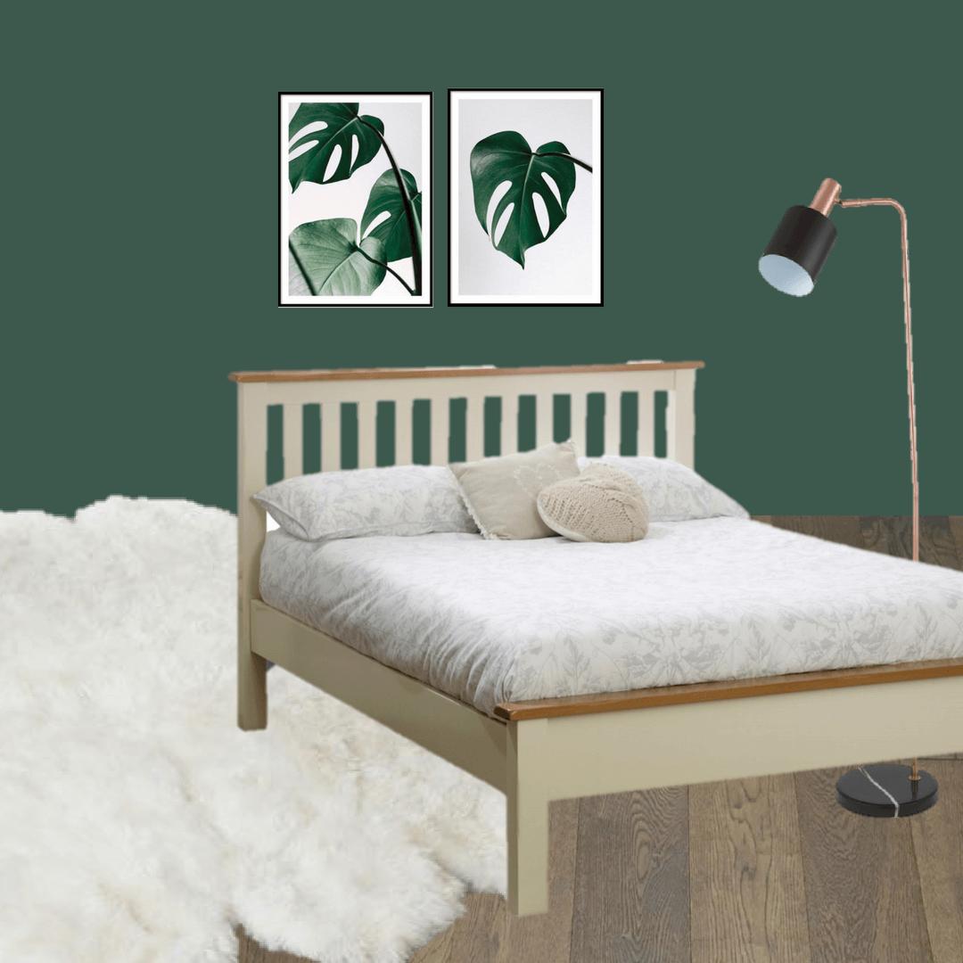 Master bedroom inspiration moodboard for dark walls