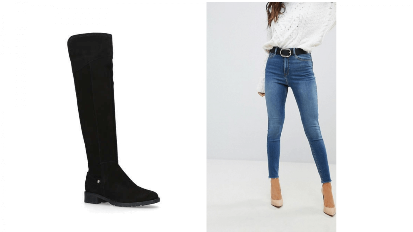 Kurt Geiger boots with Asos outfit