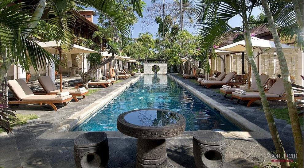 Bali beach hotel and spa secret pool area