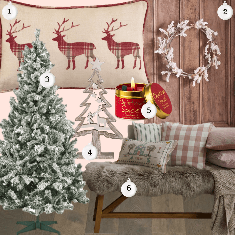 Update your home decor for Christmas for under £40