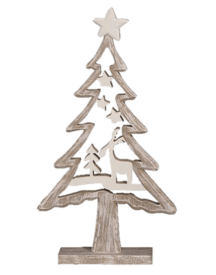 Dunelm wooden Christmas tree ornament