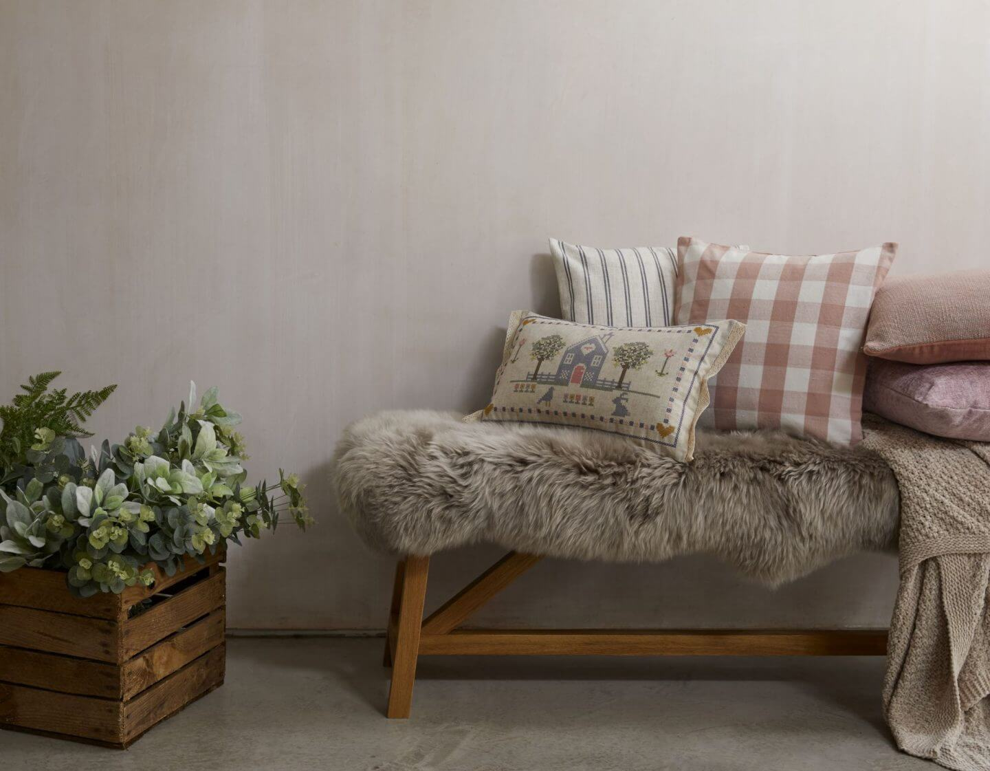 Dunelm throws and cushions for Christmas home decor under £40