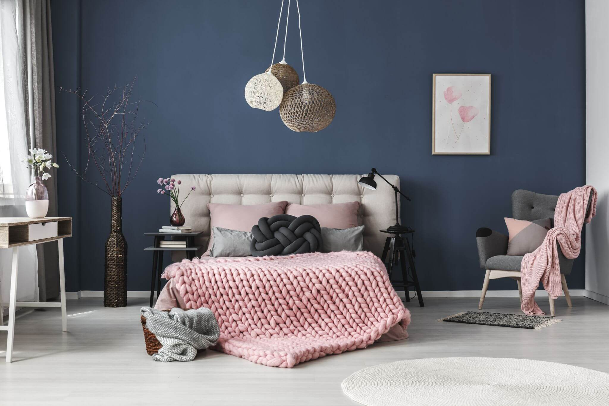 42 Images Of Amazing Navy Blue Pink Bedroom Hausratversicherungkosten